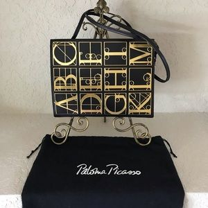 One-of-a-kind! Paloma Picasso Leather Alphabet Bag